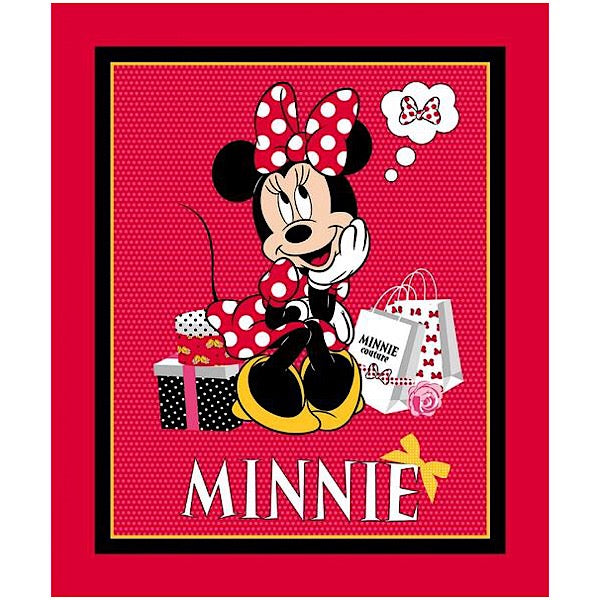 Minnie Mouse Shops Quilt Panel to sew