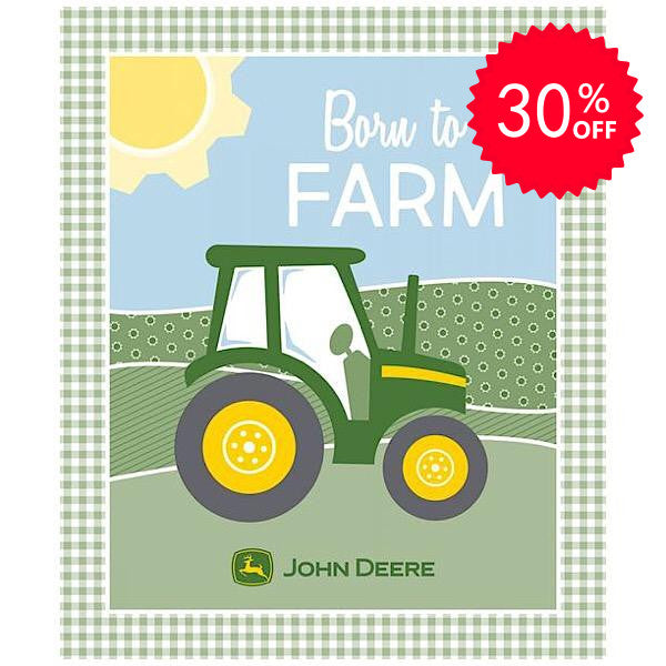 John Deere Born to Farm Quilt Panel to sew
