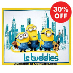 The Minions Le Buddies Quilt Fabric Panel to sew - QuiltGirls®