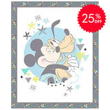Mickey and Pluto Nursery Quilt Panel to sew - QuiltGirls®