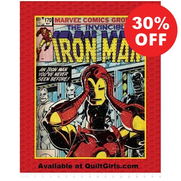 Iron Man Comic Quilt Panel to sew - QuiltGirls®