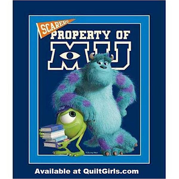 Monsters University Quilt Panel to sew