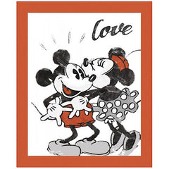 Mickey and Minnie Love Quilt Panel to sew - QuiltGirls®