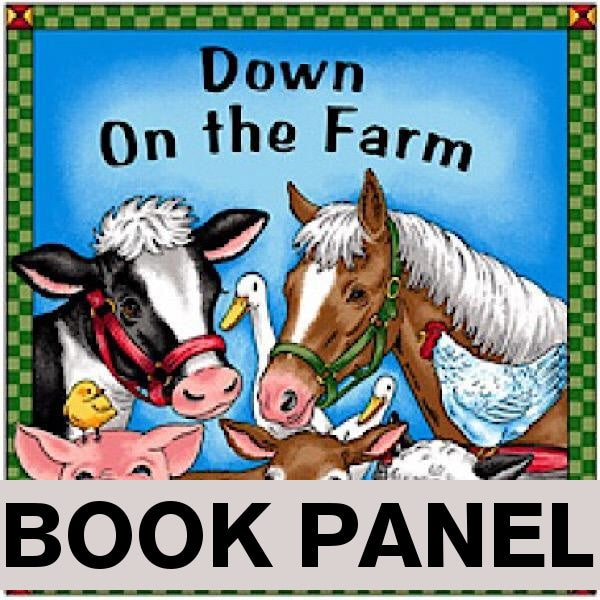 Down on the Farm Fabric Book Panel to sew