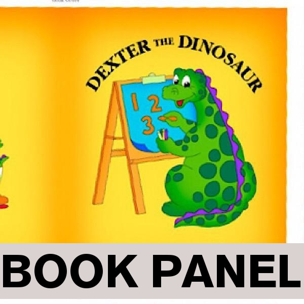 Dexter The Dinosaur's 123 Fabric Book Panel to sew