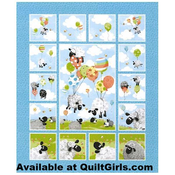 Susybee's Lewe's Balloons Quilt Panel to sew - QuiltGirls®