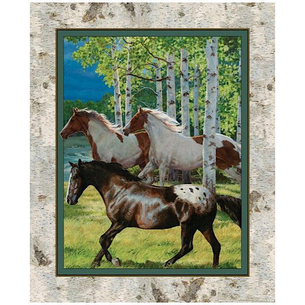 Running Free Horse Quilt Panel to sew - QuiltGirls®