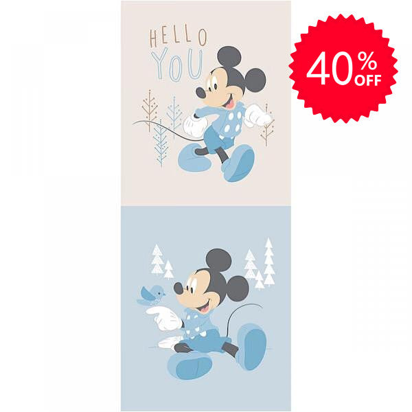 Disney Mickey Mouse Blue Half Panel to sew