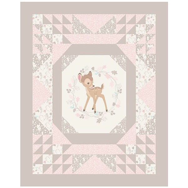Baby Bambi Quilt Panel to sew