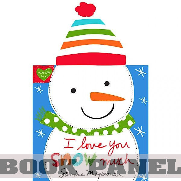 I Love You Snow Much Fabric Book Panel to Sew