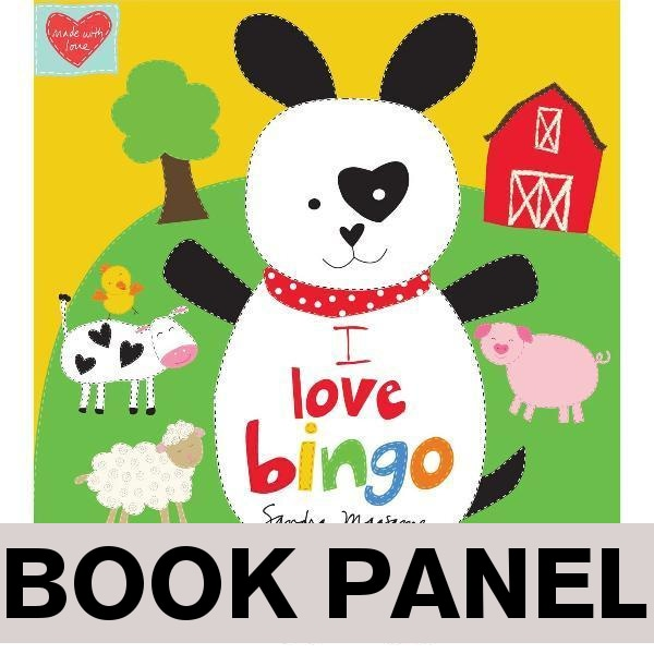 I Love Bingo Fabric Book Panel to sew - QuiltGirls®