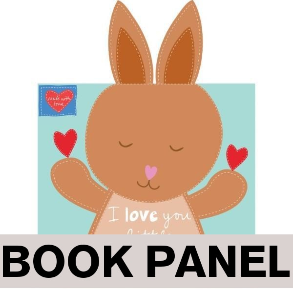 I Love You Little Kangaroo Fabric Book Panel to sew - QuiltGirls®