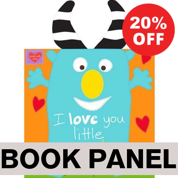 I Love You Little Monster Fabric Book Panel to sew - QuiltGirls®