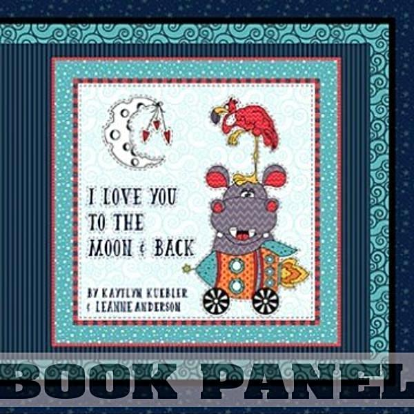 Moon and Back Fabric Book Panel to Sew