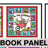 In the Garden Fabric Book Panel to Sew - QuiltGirls®