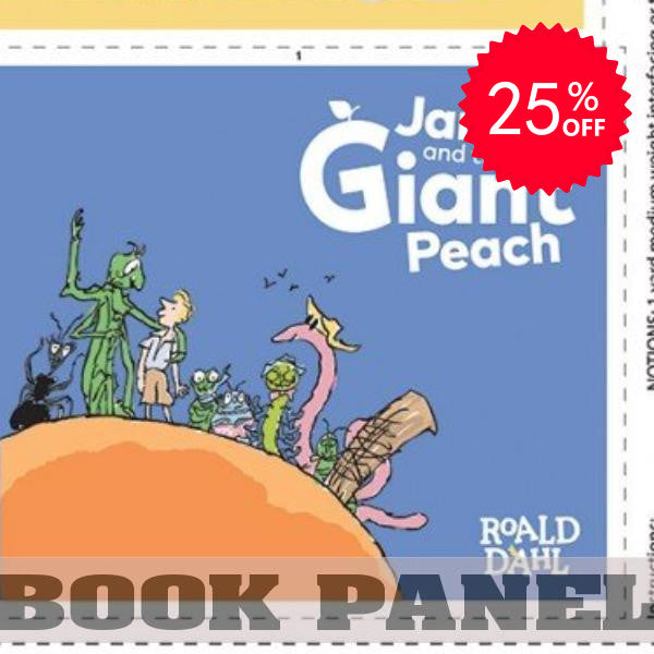 James and the Giant Peach Fabric Book Panel to Sew