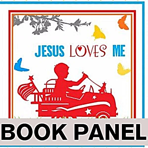 Jesus Loves Me Fabric Book Panel to Sew