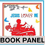 Jesus Loves Me Fabric Book Panel to Sew - QuiltGirls®