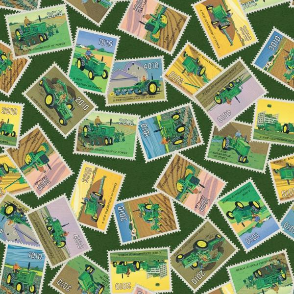 John Deere Stamps Fabric to sew - QuiltGirls®