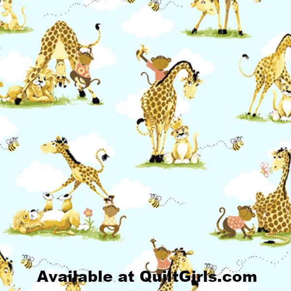 Susybee's Jungle Buddies Allover Fabric to sew