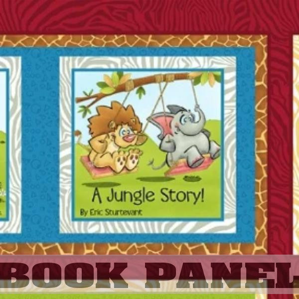 A Jungle Story Fabric Book Panel to sew