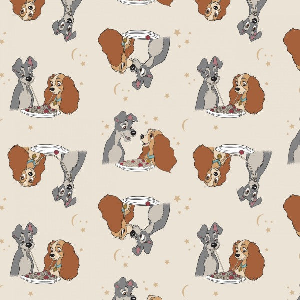 Lady and The Tramp Stars in Their Eyes Fabric to sew