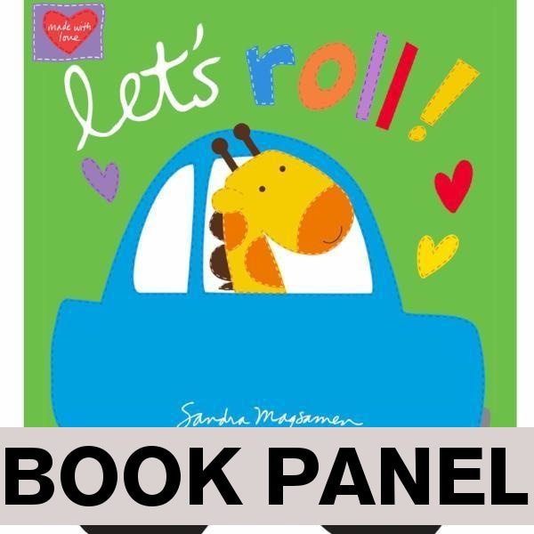 Let's Roll Fabric Book Panel to sew