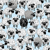 Susybee's Lewe Allover Sheep Blue Fabric to sew - QuiltGirls®