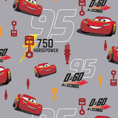 "(Remnant 18"") Lightning McQueen Fabric to sew - QuiltGirls®"