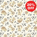 Little Critters Fox Toss on Tan Fabric to sew - QuiltGirls®