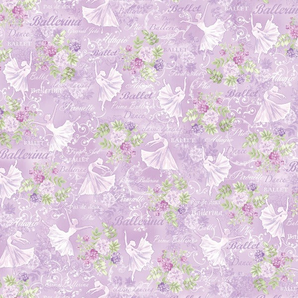 Ballet Theater Lilac Fabric to sew - QuiltGirls®