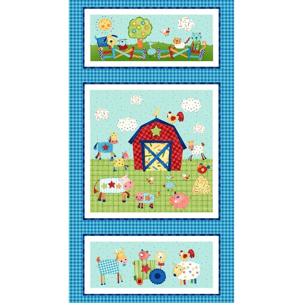 Little Red Barn Fabric Panel to sew - QuiltGirls®