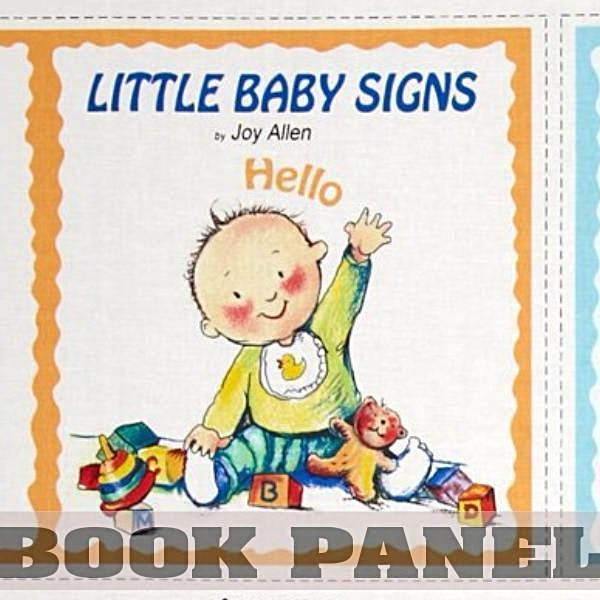Little Baby Signs Fabric Book Panel to Sew