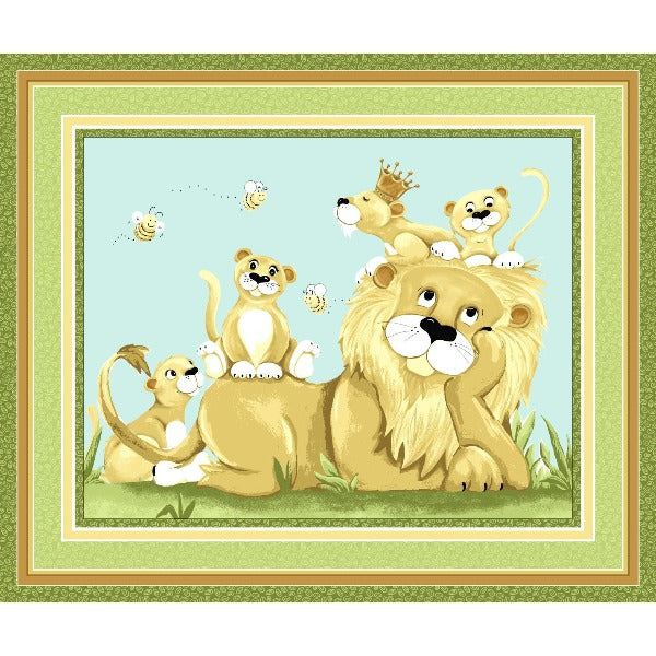 Susybee's Lyon the Lion Play Mat Panel to sew - QuiltGirls®
