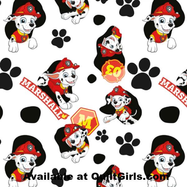 Paw Patrol Marshall Fabric to sew - QuiltGirls®