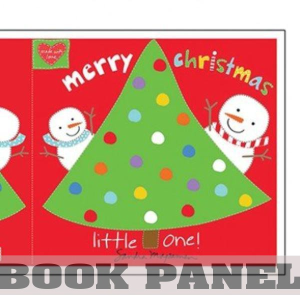 Merry Christmas Little One Fabric Book Panel to Sew