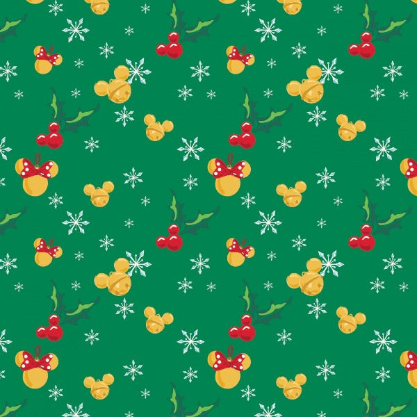 Christmas Mickey Jingle Bell Mice Fabric to sew