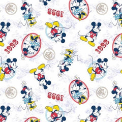 Mickey and Minnie Ideal Couple Fabric to sew - QuiltGirls®
