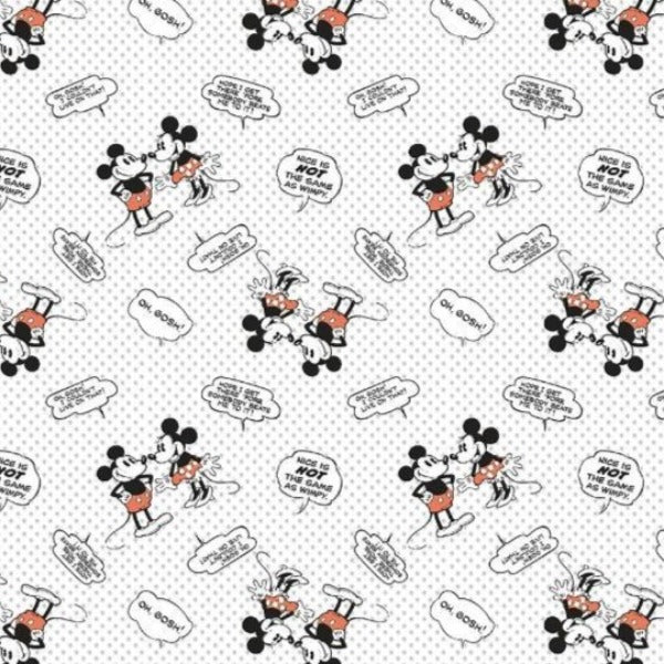 Mickey and Minnie Nice is Not Wimpy Fabric to sew