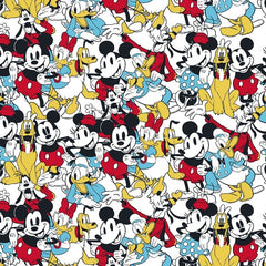 "(Remnant 18"") Mickey and Friends Sensational 6 Snapshots Fabric to sew - QuiltGirls®"