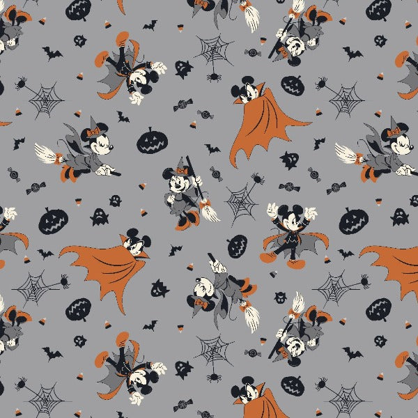 Mickey and Minnie Spooky Flight Fabric to sew