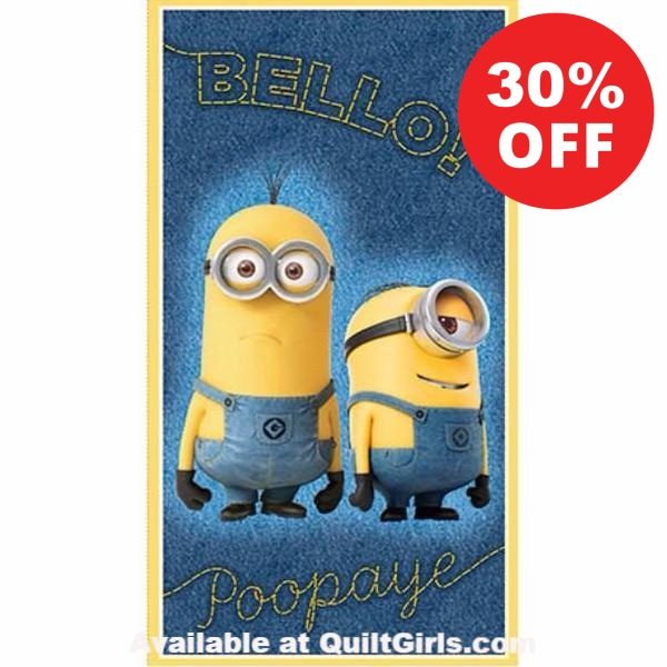 Millions of Minions Fabric Panel to sew - QuiltGirls®