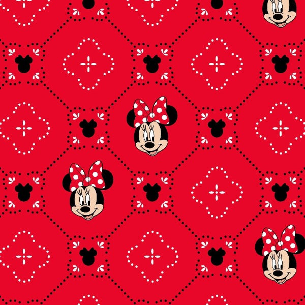 "(Remnant 18"") Minnie Smiles Fabric to sew"
