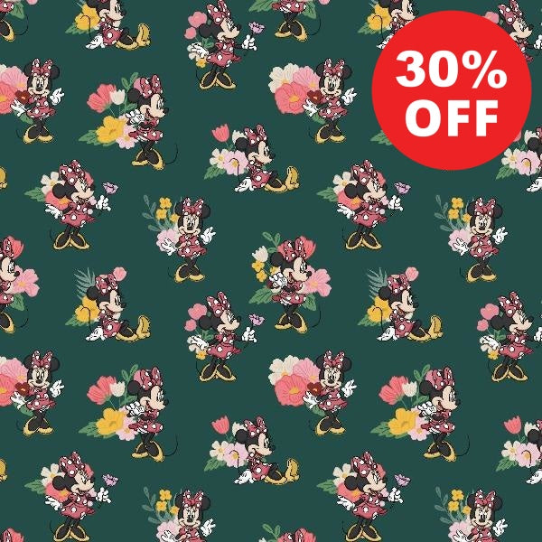 Minnie Traditional Flower Fabric to sew