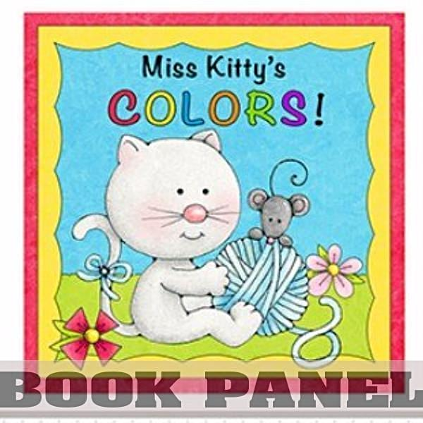 Miss Kitty's Colors Fabric Book Panel to sew