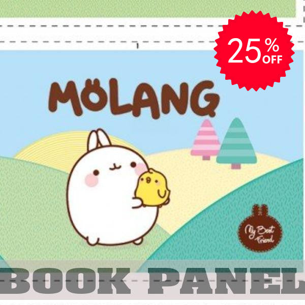 Molang Fabric Book Panel to Sew