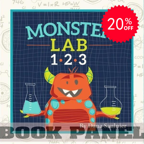Monster Lab Fabric Book Panel to sew