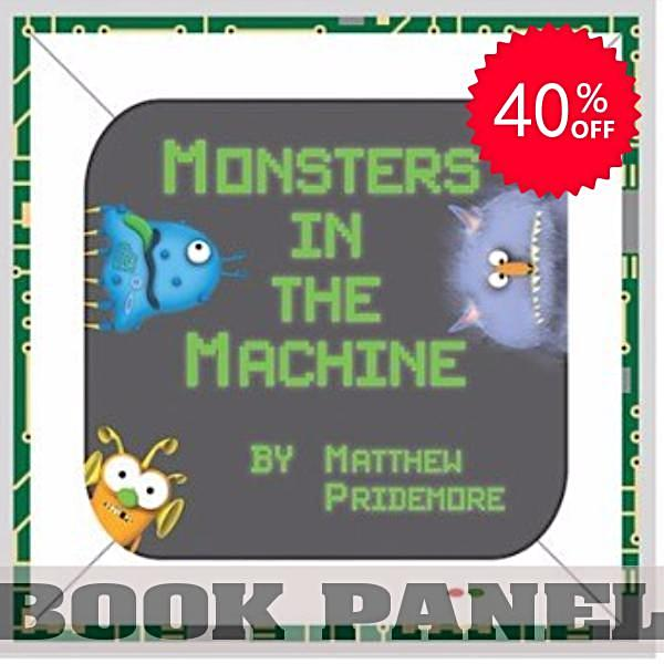 Monsters in the Machine Fabric Book Panel to Sew