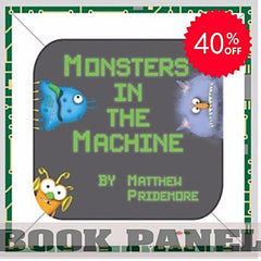 Monsters in the Machine Fabric Book Panel to Sew - QuiltGirls®