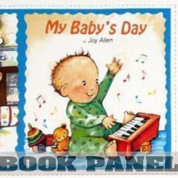 My Baby's Day Fabric Book Panel to Sew